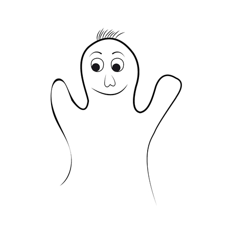 the spectre: Funny Ghost on a White Halloween Background