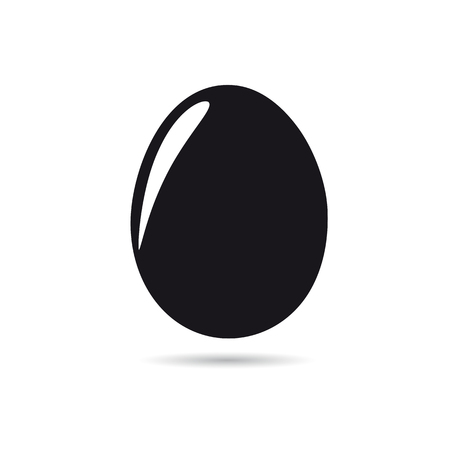 Icon black egg on white background Illustration