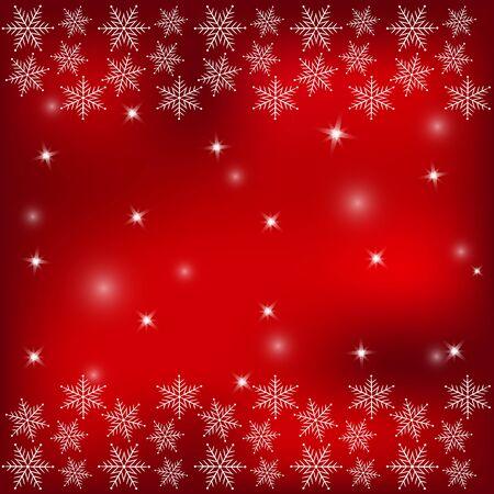 Fiocchi di neve bianchi su uno sfondo rosso.Christmas background. Archivio Fotografico - 87663597