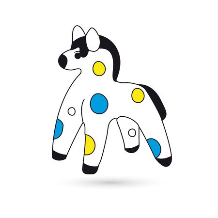 Toy horse on white background 版權商用圖片 - 88161598