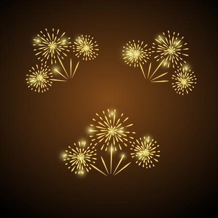 Fireworks icon. 向量圖像