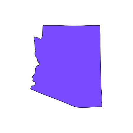 Map of the U.S. state of Arizona on a white background  イラスト・ベクター素材