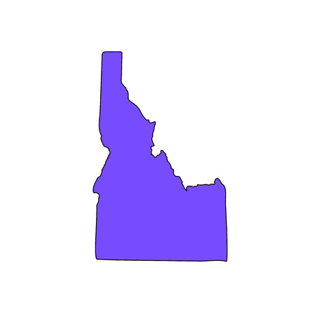Map of the U.S. state of Idaho on a white background