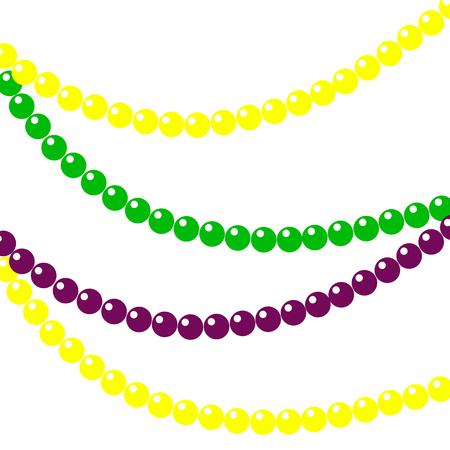 Background of beads for mardi gras. Vector illustration