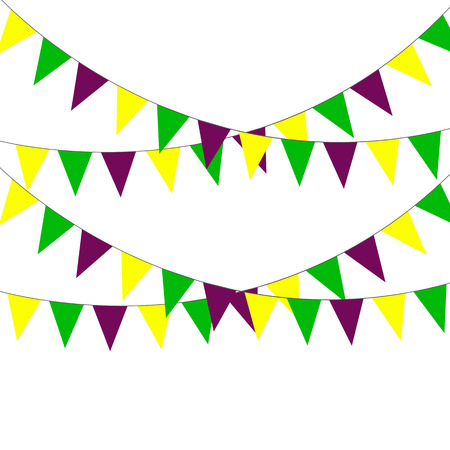 Background of flags for the holiday of Mardi Gras Illustration