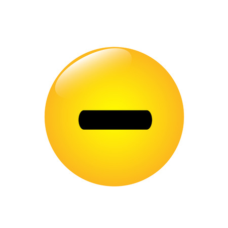 Minus sign on the yellow round button