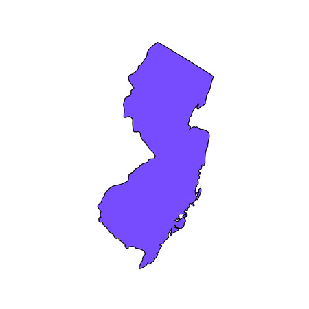 Map of the U.S. state of New Jersey on a white background