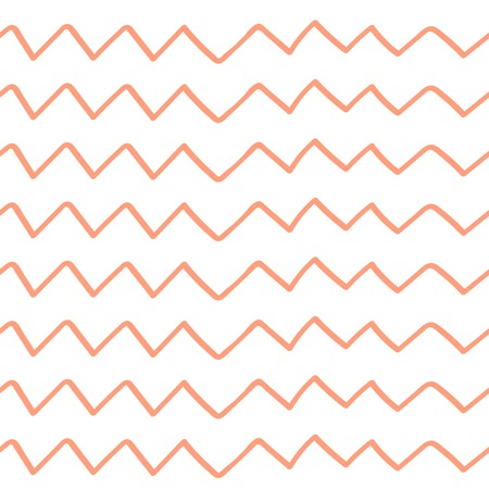 Seamless background from pink broken lines. Vector illustration