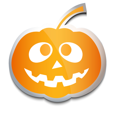 Halloween pumpkin vector illustration.