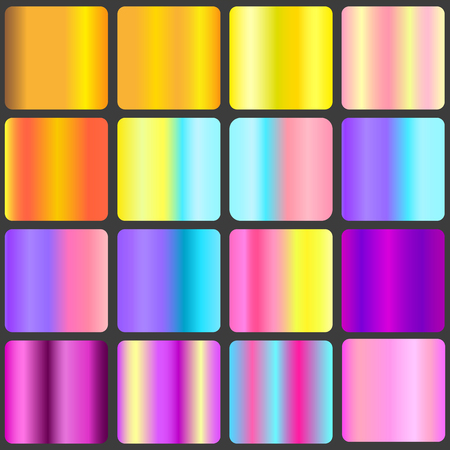 A set of gradient linear backgrounds. Vector illustration for your design 矢量图像