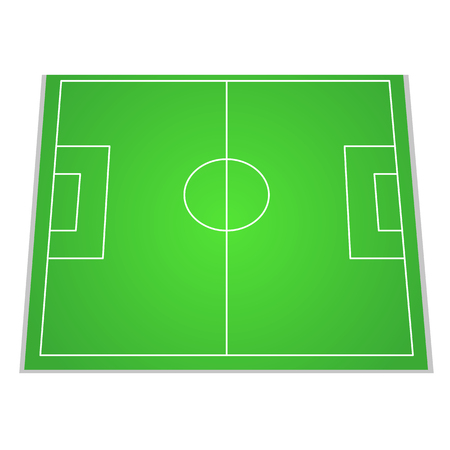 Soccer field, top view. Vector illustration for your design Vectores