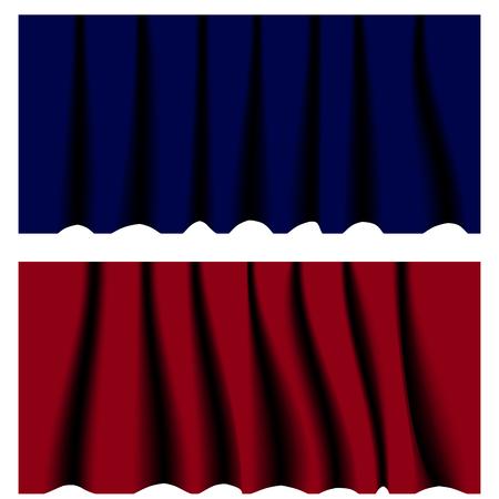 Silk curtain patterns. Vector illustration for your design Illusztráció