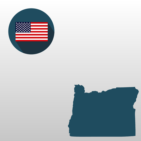 Map of the U.S. state of Oregon on a white background vector illustration