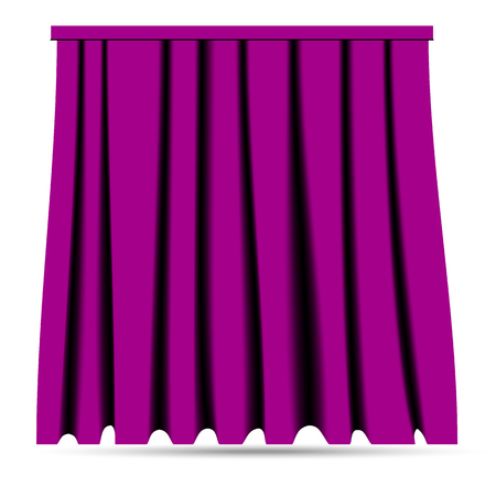 Silk curtain patterns Vector illustration isolated on plain background.