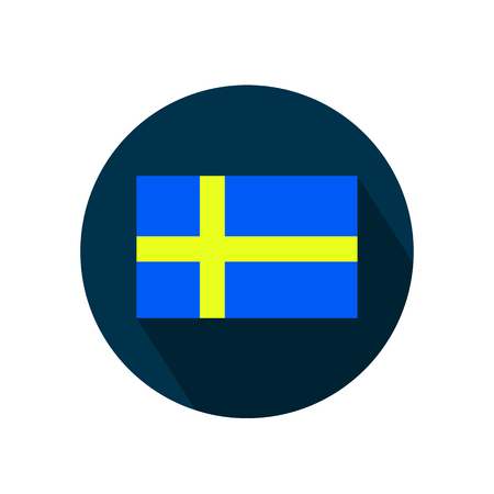 Flag of Sweden on a white background. Vector illustration. 向量圖像