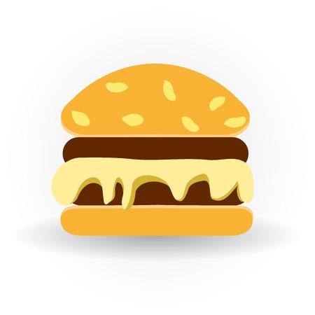 Vectorillustratie van een smakelijke hamburger. Vector illustratie.