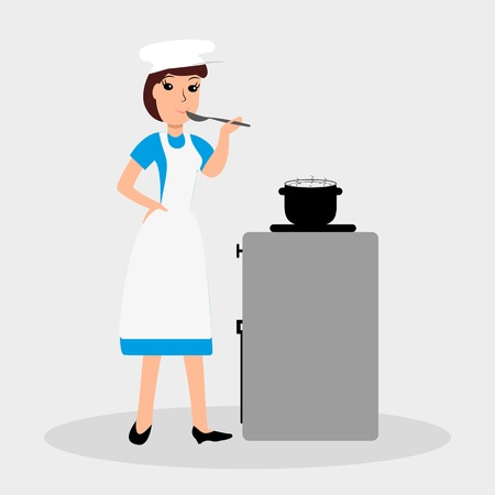 Woman cook. Illustration