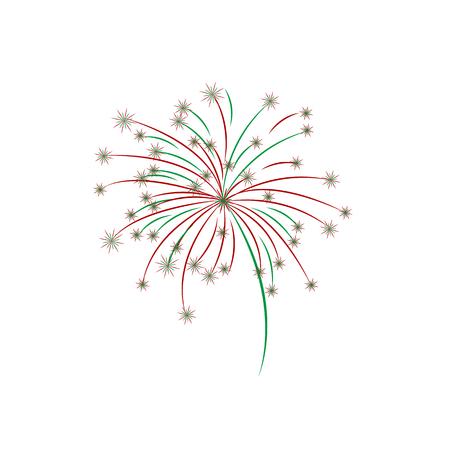 Holiday vector illustration. Festive fireworks or confetti.