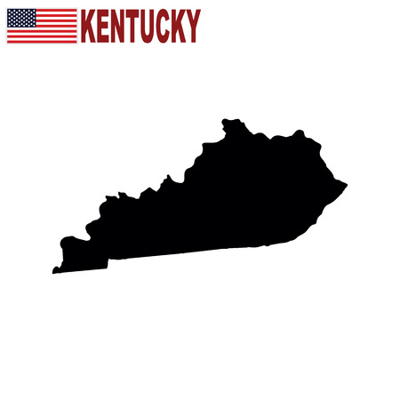 Map of the U.S. state of Kentucky on a white background.