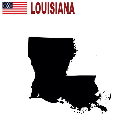 Map of the U.S. state of Louisiana on a white background.