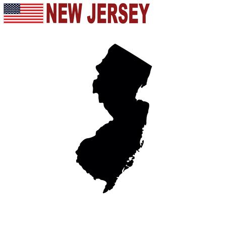 Map of the U.S. state of New Jersey on a white background. Illusztráció