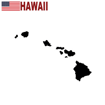 Map of the U.S. state of Hawaii on a white background. Illustration