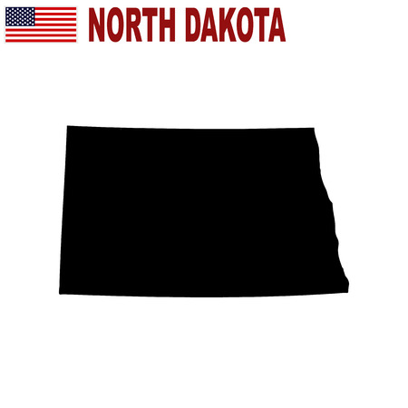 Map of the U.S. state of North Dakota on a white background