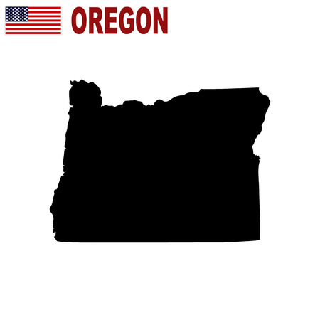 Map of the U.S. state of Oregon on a white background Vettoriali