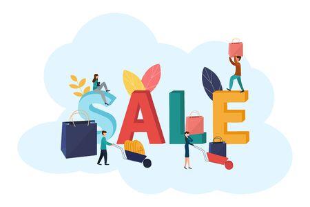 Vector illustration, flyer, poster banner Sale in stores Ilustracja