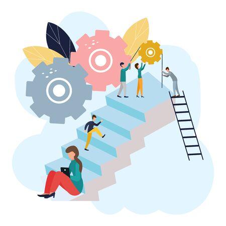 Vector illustration of business, workflow. Illustration for your design. Ilustracja