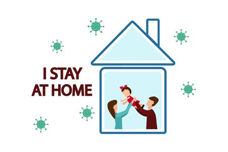 I stay at home, spend time with children, on social networks and prevent coronavirus infection: the family stays at home