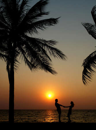 Couple in the sunset photo