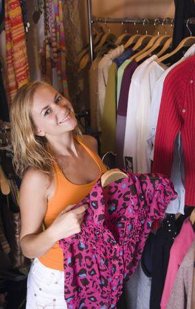 Women chooses clothes 2 photo