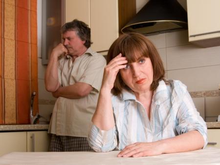 infidelity: mature couple in quarrel