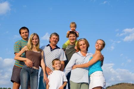 large family: Happy big family  Stock Photo