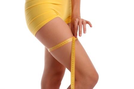 Woman measures a hip photo