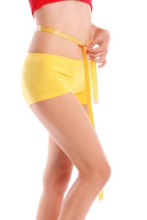 Women measures a waist photo