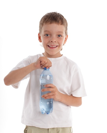 Boy with bottle photo