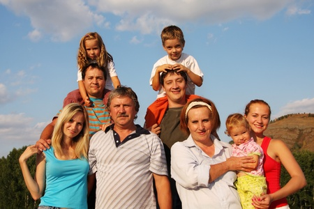 Happiness large family Stock Photo - 9397924