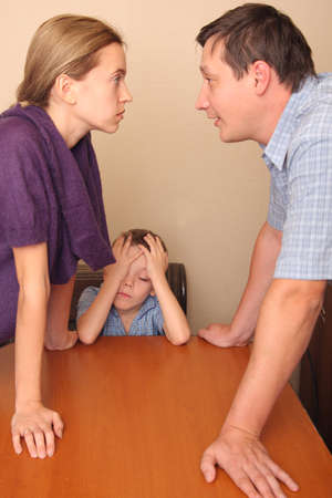 Conflict in a family Stock Photo - 9480570