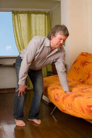 Pain in a knee. Arthritis Stock Photo - 9488258