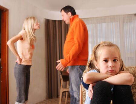 Parents swear, and children suffer Stock Photo - 9488140
