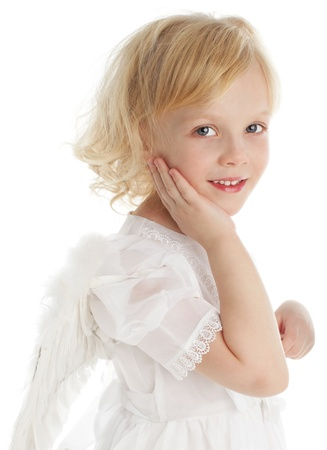 Child with wings of an angel photo