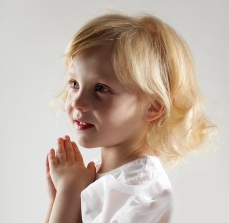 Portrait of the beautiful little girl photo