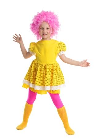 Beautiful little girl in yellow sundress photo