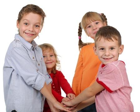 pitting: Children, hand in hand pitting