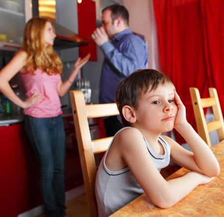 separation: Parents swear, and children suffer Stock Photo