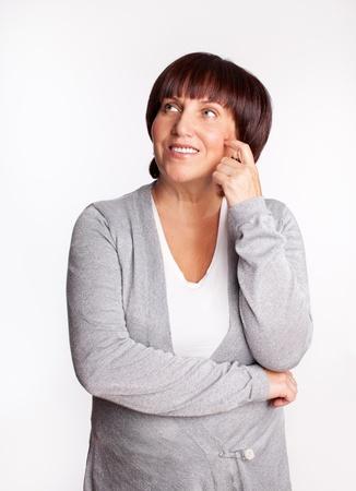 Portrait happiness mature woman photo