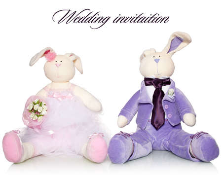 Bride and groom teddy. Wedding Stock Photo - 12784155