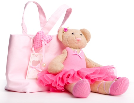 Soft toy bear on white background Stock Photo - 12784056